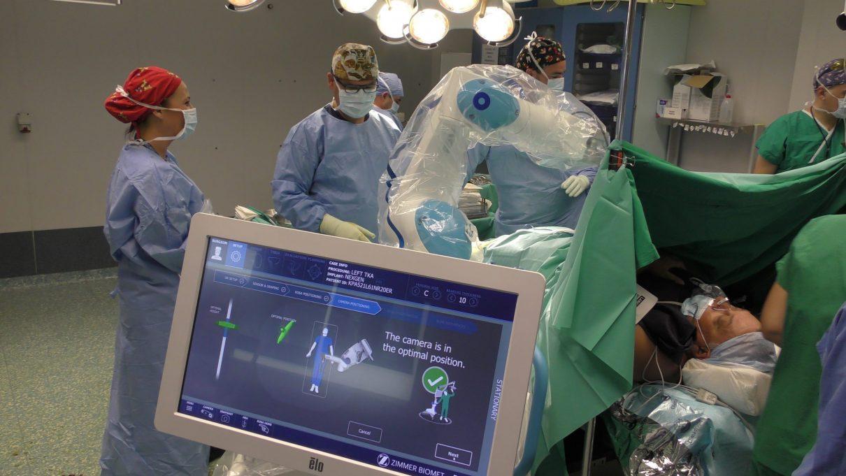 Ρομποτική αρθροπλαστική γόνατος (ROSA) ταχείας κινητοποίησης (fast track) μονοήμερης νοσηλείας