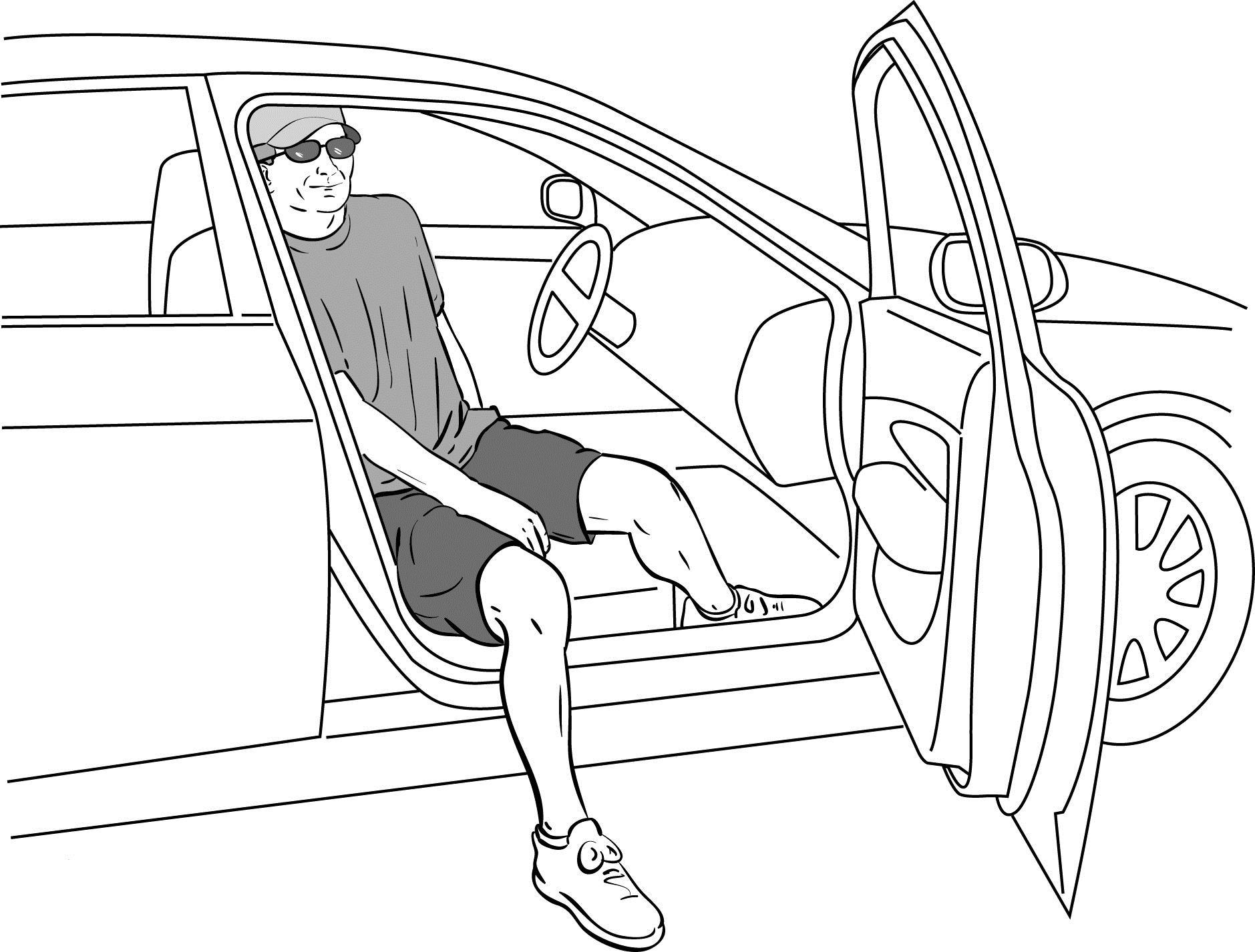 Είσοδος έξοδος σε αυτοκίνητο μετά αρθροπλαστική γόνατος ή ισχίου
